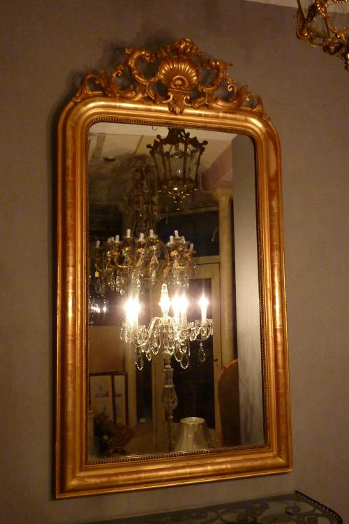 an original antique mirror.