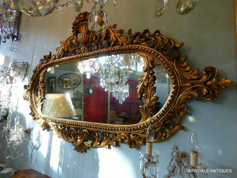 An ornate mirror